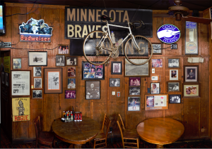 Minnesota Braves Wall at Manuel's Tavern